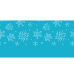 Blue lace snowflakes textile horizontal border vector