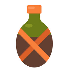 camping flask icon flat style vector image