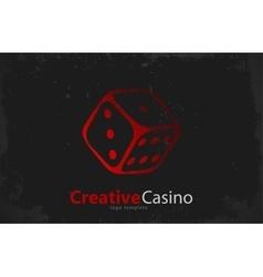 Casino logo dice logo casino club poster vector