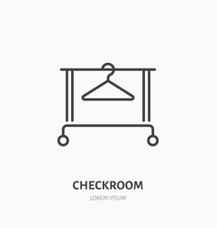 Clothes hanger icon clothing rack line logo flat vector