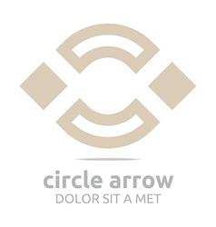 Design square brown rhombus arch symbol icon vector