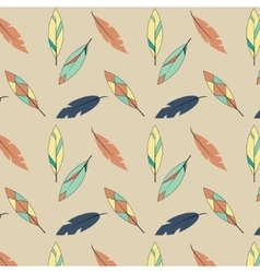 Feather pattern in yellow and blue tones vector