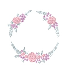 Floral ring frame vector image vector image