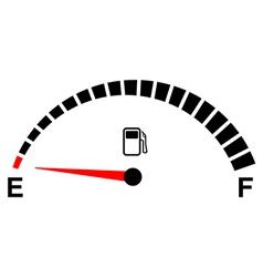 fuel gage empty vector image vector image
