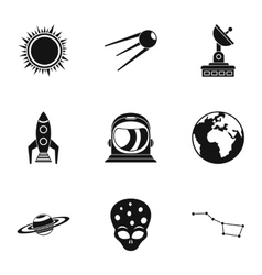 Galaxy icons set simple style vector