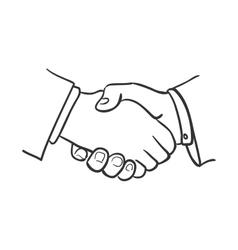 Hand draw doodle handshake vector