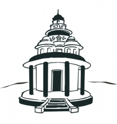 Hindu temple vector