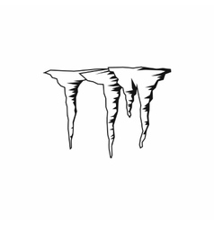 Icicles icon simple style vector image