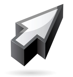 Isometric icon of cursor vector image