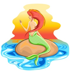 Mermaid Siren Mythological Creature vector image vector image