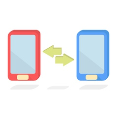 Mobile transfer vector image vector image
