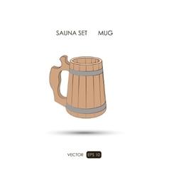 Mug sauna accessories on a white background vector