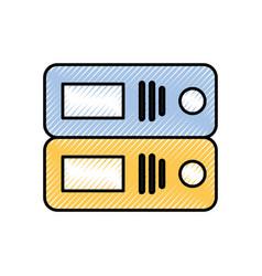 office binder organization archive supply vector image
