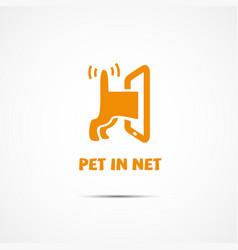 Pet in net vector
