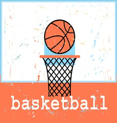 poster basketboll vector image