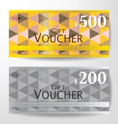 Premium gift voucher graphic template vector