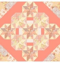 Quilt abstract seamless pattern vector