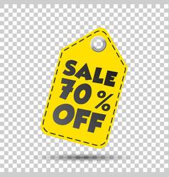 Sale 70 off hang tag vector