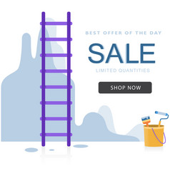 Sale best of the day stair paint background vector