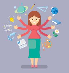 school teacher vector image vector image