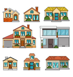 Set of smart houses tecnology vector