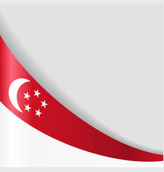singapore flag background vector image vector image