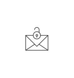 Unlocked mail icon vector