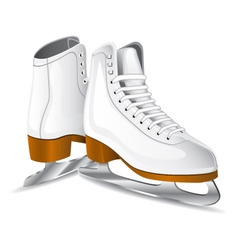 vector white figure skates vector image vector image