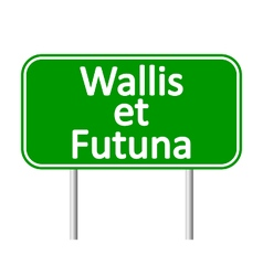 Wallis et futuna road sign vector