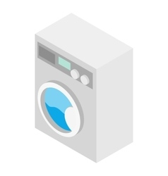 Washer isometric 3d icon vector image