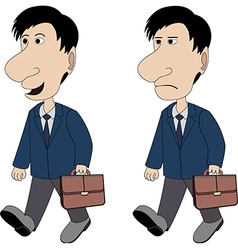 A man with a briefcase vector