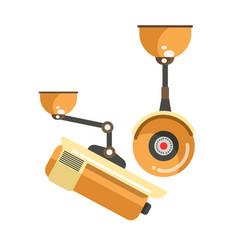 Orange camera for monitoring vector