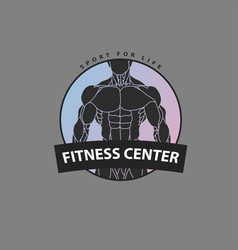 Embossed body for the logo of the fitness center vector