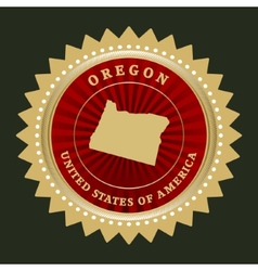 Star label Oregon vector image