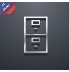 Safe icon symbol 3d style trendy modern design vector