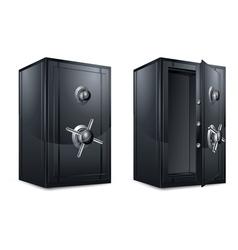 metal bank safes vector image