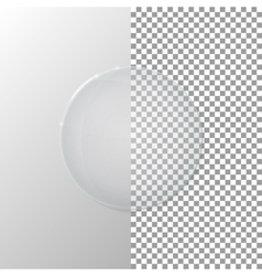 A transparent glass circle vector