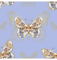 Seamless background with butterfly vector image