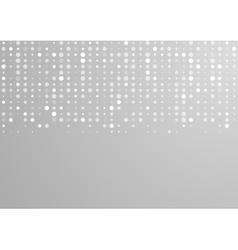 Shiny light grey circles tech pattern vector