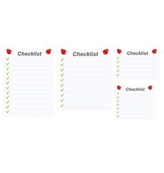 checklists vector image