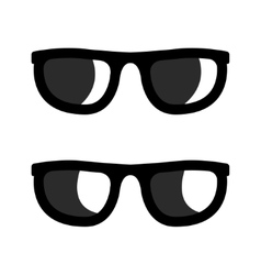 Black sunglasses icons set vector