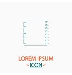 Organizer computer symbol vector