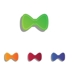 Bow tie icon colorfull applique icons set vector
