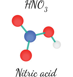 Hno3 nitric acid molecule vector
