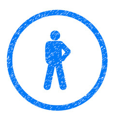 audacity person pose rounded grainy icon vector image