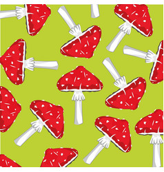 Background from fly agaric vector