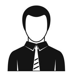 businessman icon simple style vector image vector image