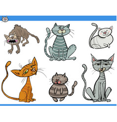 Cat characters set vector