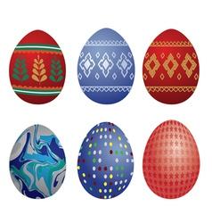 clip-art easter eggs vector image