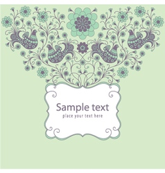 Decorative floral card vector image
